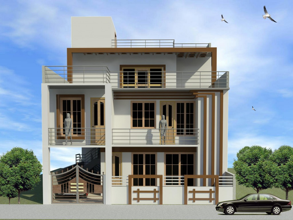 Proposed Residence design for Mr. Ram Villas At south City, Lucknow