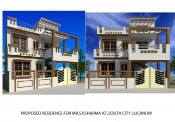 Proposed Residence design for Mr. S.P. Sharma At South City,Lucknow