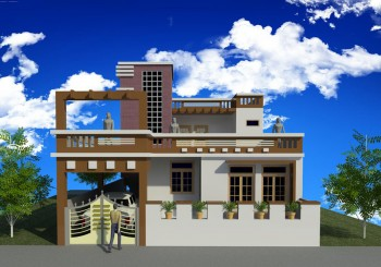 Proposed Residence Design For Mr.R.R.Dubey At Dubaga,Lucknow