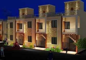 Proposed row houses for Kirshna Residency at Scooter India, Lucknow Developer- Krishna Construction